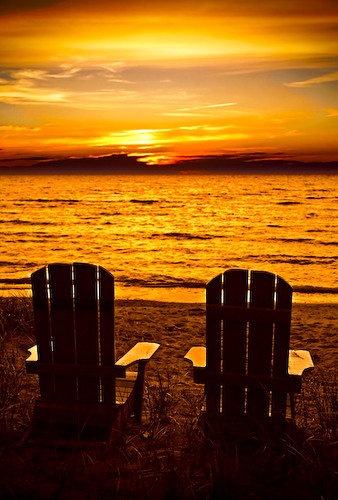 Kincardine Sunset With Beach Chairs | Flickr - Photo Sharing!