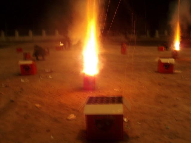 fireworks launching