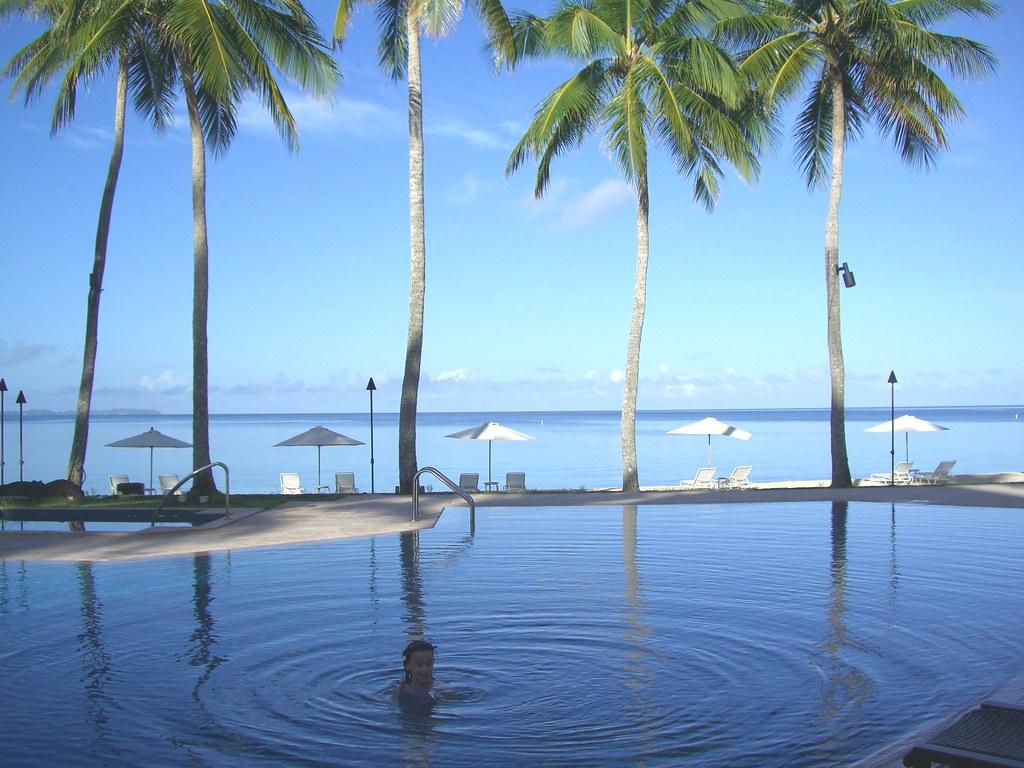 Early morning swim Palau