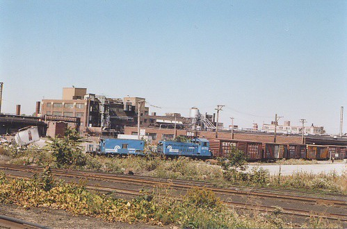 Conrail switching local. Chicago Illinois USA. October 1983. by Eddie from Chicago