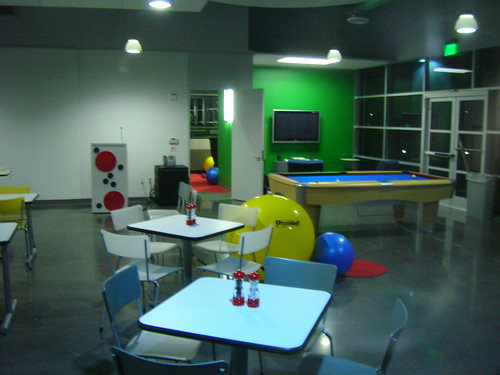 Playroom at Google offices in Dallas area, 2007