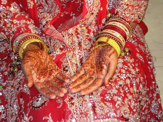 Mehndi (henna) on hands