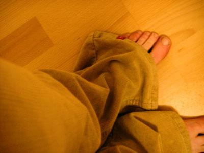 Como fazer barra de calça? passo #1