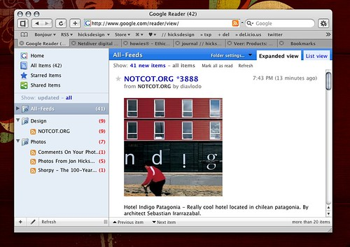 Google Reader Theme in Safari