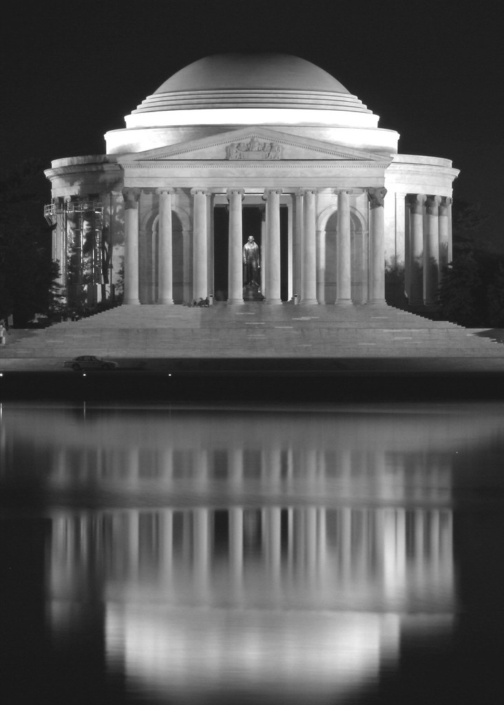 Jefferson Monument Reflected