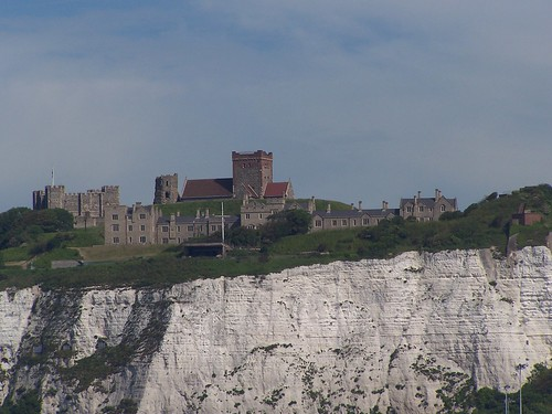 Dover Castle with the White Cliffs