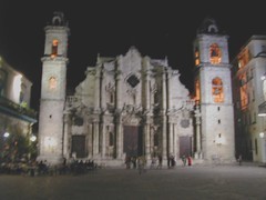 Catedral de San Cristobal at night_Cuba 094