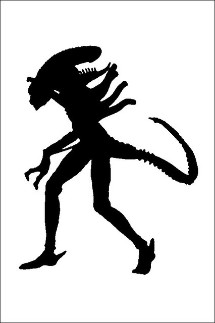 Alien stencil flickr photo sharing