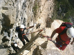 ridge(0.0), caving(0.0), canyoning(0.0), adventure(1.0), sports(1.0), recreation(1.0), outdoor recreation(1.0), mountaineering(1.0), sport climbing(1.0), extreme sport(1.0), abseiling(1.0), climbing(1.0),