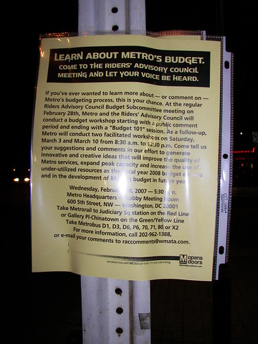 Learn about WMATA budget flyer (English)