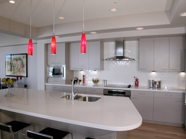 Taupe Kitchen Backsplash