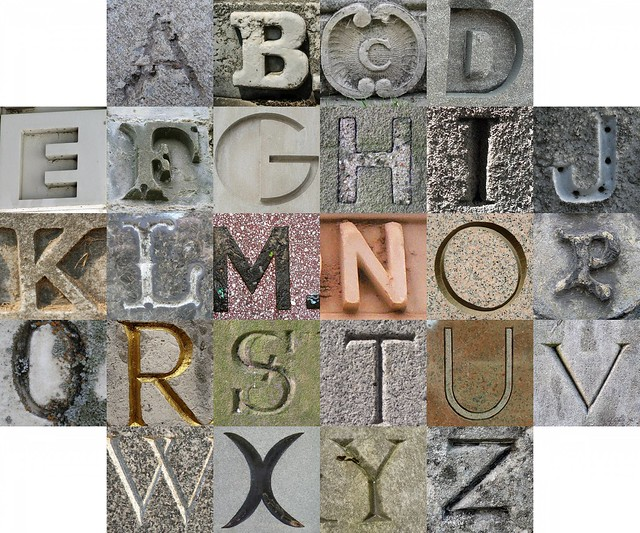 Stone Letters Flickr Photo Sharing
