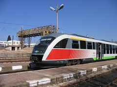 passenger(0.0), tram(0.0), railroad car(0.0), metropolitan area(1.0), tgv(1.0), high-speed rail(1.0), vehicle(1.0), train(1.0), transport(1.0), rail transport(1.0), public transport(1.0), locomotive(1.0), passenger car(1.0), electricity(1.0), rolling stock(1.0), track(1.0), land vehicle(1.0),