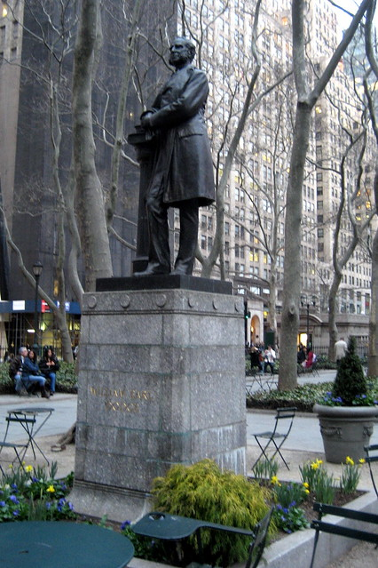 nyc bryant park william earl dodge statue flickr photo sharing