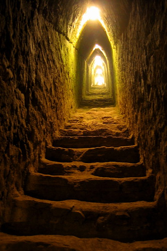 tunnel inside the great pyramid of cholula