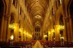 Notre Dame de Paris - Nef la nuit
