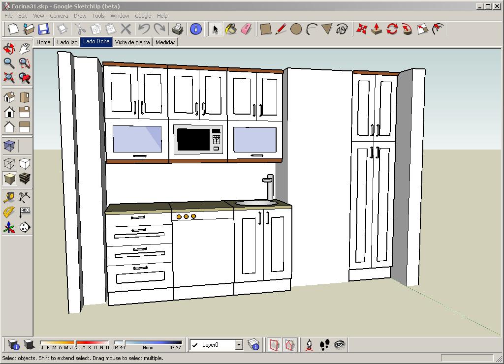 Dise ando cocinas con google sketchup xperimentos for Aplicacion para disenar cocinas