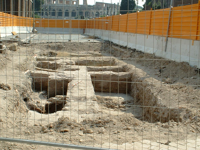 "Rome - The Imperial Fora: The Metro ""C"" Archaeological Surveys - Velia Hill (S10 - b1, b2, b3). (2006-2007). (14-09-2006.)."