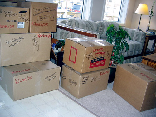 Boxes Marked for Moving