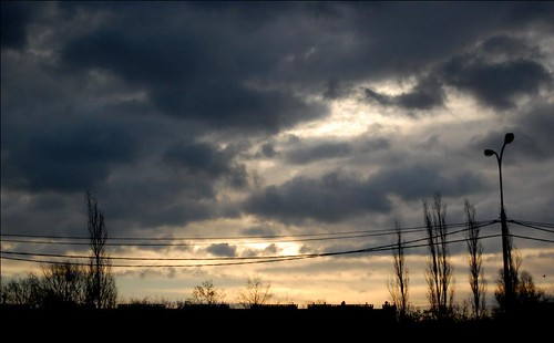 city sunset cloud lamp weather clouds poland cable warsaw suburbs nikkor clouded 1855mmf3556gii