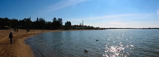 Image of  Hietarannan uimaranta  near  Helsinki. sea panorama beach helsinki sand hietaranta
