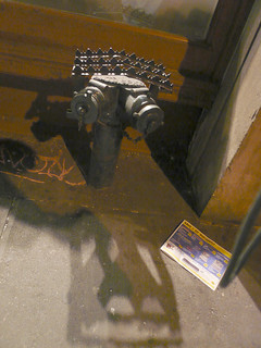 Anti-sitting grille, SoHo, NYC2