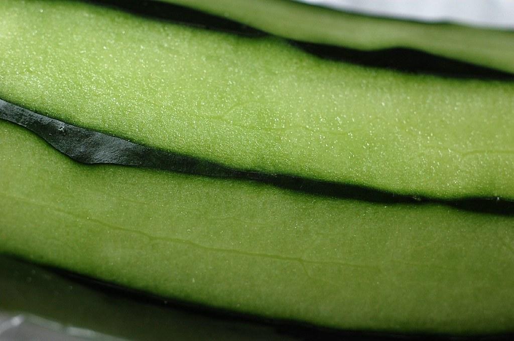 cucumber peeled, raw
