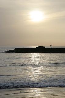 Зображення Playa de Fañabe поблизу Playa de las Américas. sunset sea evening fishing fisherman tenerife canaryislands hisgett fanabebeach