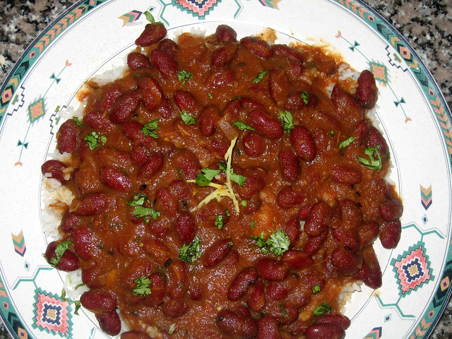 Rajma Chaval ( Dark Red Kidney Bean Curry & Rice) - a photo on ...