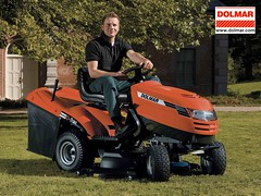 outdoor power equipment, riding mower, vehicle, mower, lawn mower, lawn, land vehicle, tractor,