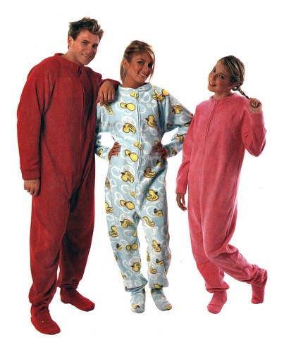 adult footed pajamas. Image by sebastien.barre