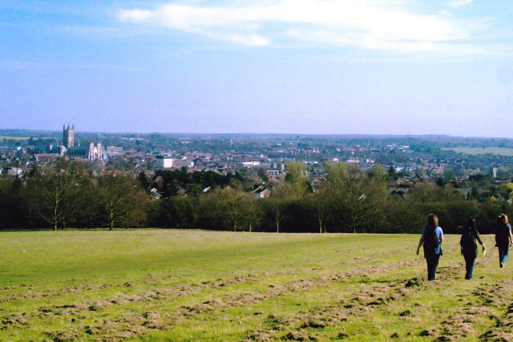 Chilham to Canterbury View of Canterbury and its cathedral from near the university campus to the north west. D.Allen Vivitar 5199 5mp