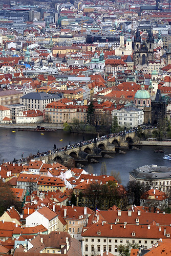 Charles Bridge (Karlův most) from the Petrin Tower - Prague, Czech Republic by Craig Grobler