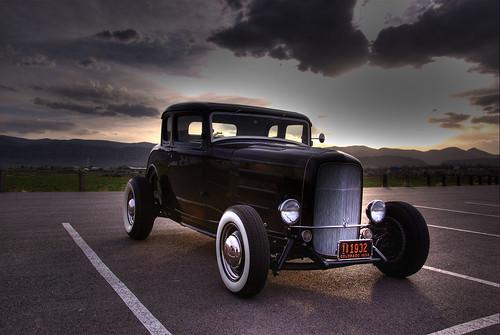 Classic Car at Sunset