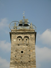 steeple(0.0), control tower(0.0), lighthouse(0.0), clock tower(0.0), landmark(1.0), bell tower(1.0), tower(1.0),