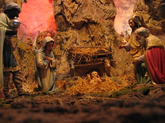 decor(0.0), christmas decoration(0.0), mythology(1.0), manger(1.0), nativity scene(1.0),