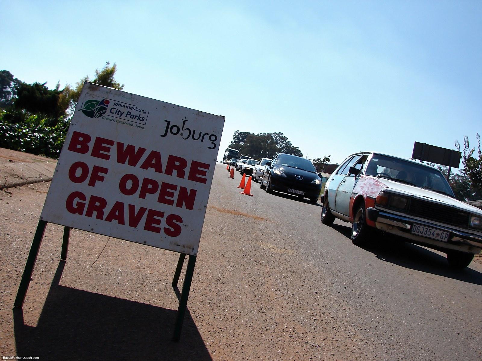 Beware of open graves