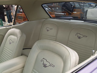 purple mustang interior