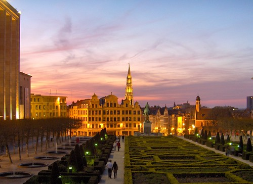 Sunset at the Mont des Arts