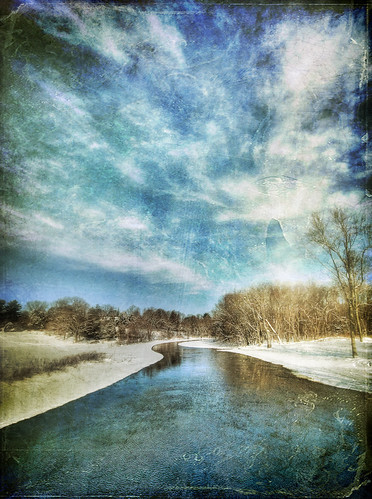 winter snow cold texture water clouds photoshop river stream