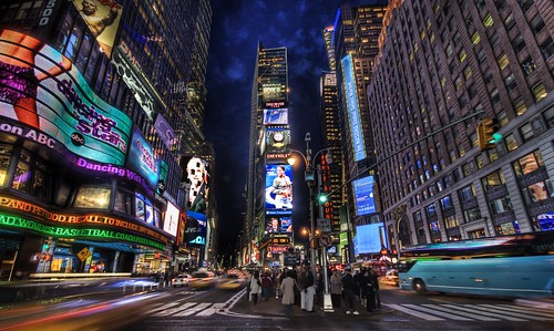 Times Square at Dusk (New York City) - Your Small Business Needs a Website to Stand Out and Be Seen.