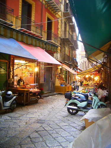 A market street in Palermo, Sicily
