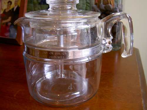 Pyrex coffee percolator