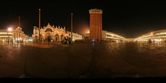 st marks square at night, venice