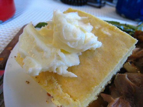 Butter with corn bread