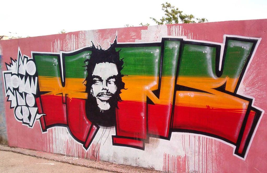 """Mons"" Rasta Graffiti, Rego Station, Lisboa - a photo on ..."