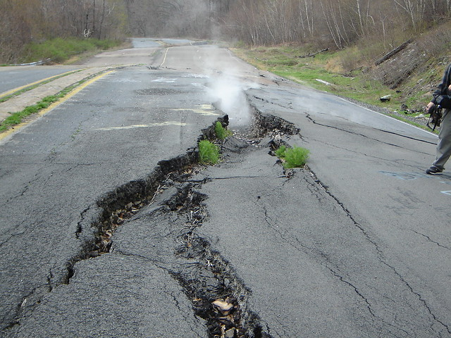 Old Route 61 in Centralia, PA