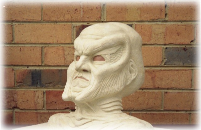 BABYLON FIVE - NARN AMBASSADOR G'KAR, INITIAL SCULPTURE FOR PROSTHETIC MASK - 3/4 PROFILE