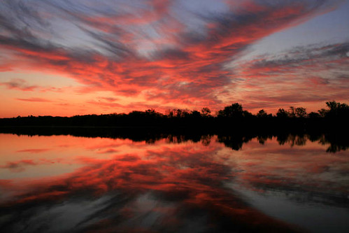 lake minnesota sunrise reflections landscape