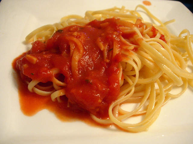 Pasta with Homemade Marinara Sauce | 04.14.07 : Courtesy of ...